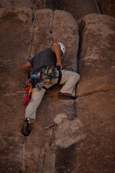 Rock Climbing Photo: Jeremy near the end of the dutchess