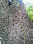 Rock Climbing Photo: The beginning of Veldener Weg.
