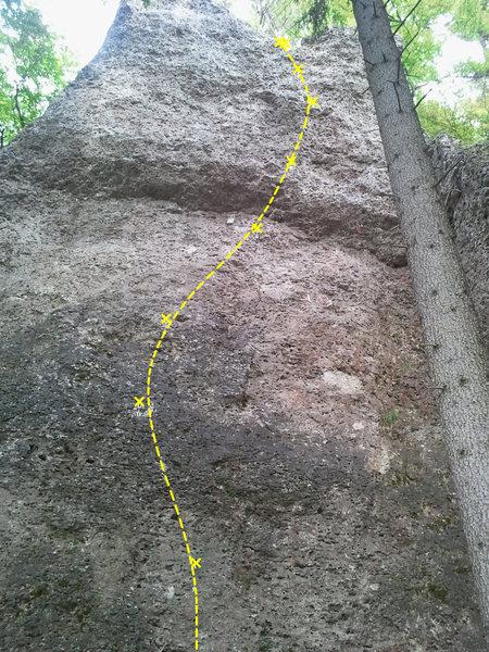 Rock Climbing Photo: Nürnberger Weg nearly in its entirety.