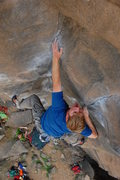 Rock Climbing Photo: Fishing for holds (turns out there aren't any) on ...