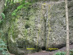 Rock Climbing Photo: Topo for Abgedreht and Balalaika