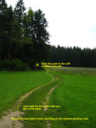Rock Climbing Photo: This is the path from the parking area at Gaisheim...