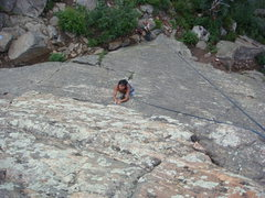 Rock Climbing Photo: A little rest before the tough part!