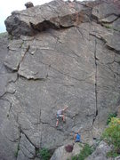 Rock Climbing Photo: Looks like a fun lead. First bolt is a little high...