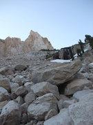 Rock Climbing Photo: left-hand talus slope