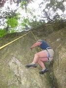 Rock Climbing Photo: Mom sending using a chimney technique