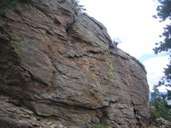 Rock Climbing Photo: Upper crag, looking NE from near trail.  Leo is at...