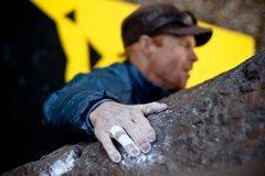 Rock Climbing Photo: Joshua Knapp pulling down.