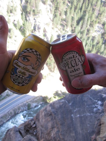Soft Lunch box = $17<br> Ice packs = $2<br> Ska Brewery mixed pack = $18<br> <br> Ice Cold beers 450+ feet up after a send..... Priceless