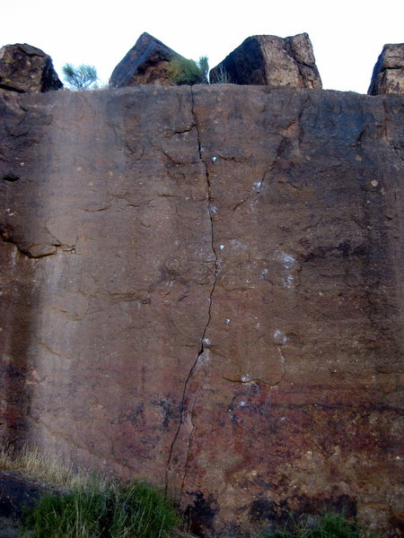 Rock Climbing Photo: The thin seam in the rock indicates the line for T...