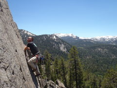 """Rock Climbing Photo: On the face of """"Hot Dog and a Beer, Two Bucks..."""
