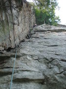 Rock Climbing Photo: Love the steepness on 5.3
