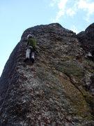 Rock Climbing Photo: Gettin' on Lunatic.