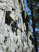 Rock Climbing Photo: Almost to the end of the diagonal crack