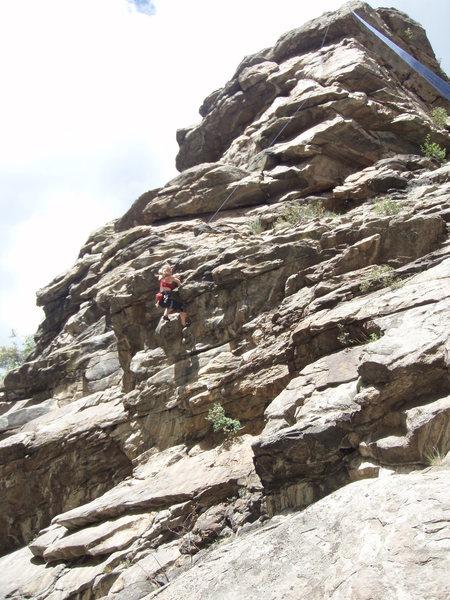 Rock Climbing Photo: Laura, following on East Colfax.