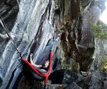 Rock Climbing Photo: Lily milking the rest before the starting moves of...