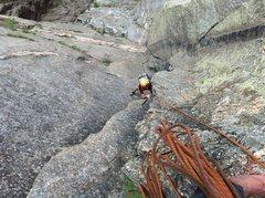 Rock Climbing Photo: Top of 2nd.