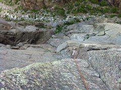 Rock Climbing Photo: Following 3rd.