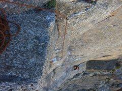 Rock Climbing Photo: Following the crux.