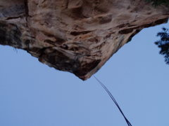 Rock Climbing Photo: The Byrd's Classic rappel.  Climb Byrd's to the tr...
