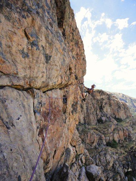 Rock Climbing Photo: Fun on the quartzite....