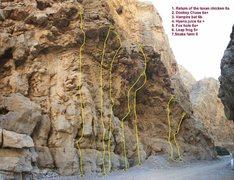Rock Climbing Photo: The Narrows Right Side  Topo By: Gordo Rech