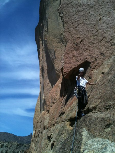 Karl leading the West Face Variation.