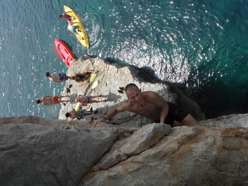 Rock Climbing Photo: DWSing at Limah Bay Musamdan Oman/UAE.