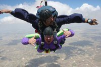 Rock Climbing Photo: Skydiving in West Texas