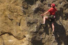 Rock Climbing Photo: Eric Burt on Center Route.