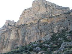 Rock Climbing Photo: The main cliff band at Dry Wall