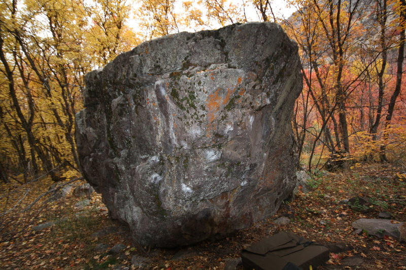 Rock Climbing Photo: Main Boulder in The late fall.