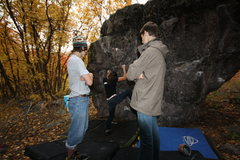 Rock Climbing Photo: Working to find a good line.