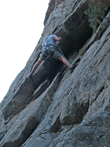 Rock Climbing Photo: The roof/crux.
