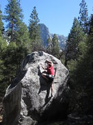 Rock Climbing Photo: Bouldering in the valley, problem name currently u...