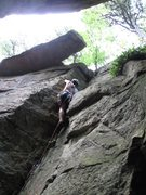 Rock Climbing Photo: First known lead.  (July 2011)