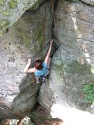 Rock Climbing Photo: At the tight squeeze move.