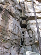 Rock Climbing Photo: OK, so you don't actually chimney it (it's filled ...