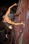 Rock Climbing Photo: Zach Borland takes the big ride.