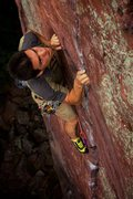 Rock Climbing Photo: Masuo Gates classically cool on this classic route...