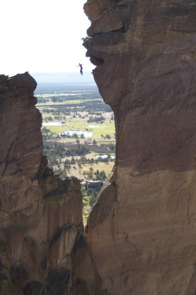 Rock Climbing Photo: My first highlining, Smith Rock, Oregon