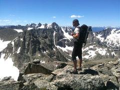 Rock Climbing Photo: Atop Paiute, July 2011