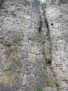 Rock Climbing Photo: Annelore is shown a little more clearly here in bl...