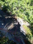 Rock Climbing Photo: Jimmy Jazz following the top half