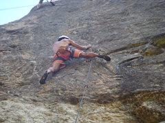 Rock Climbing Photo: Dan at the crux.