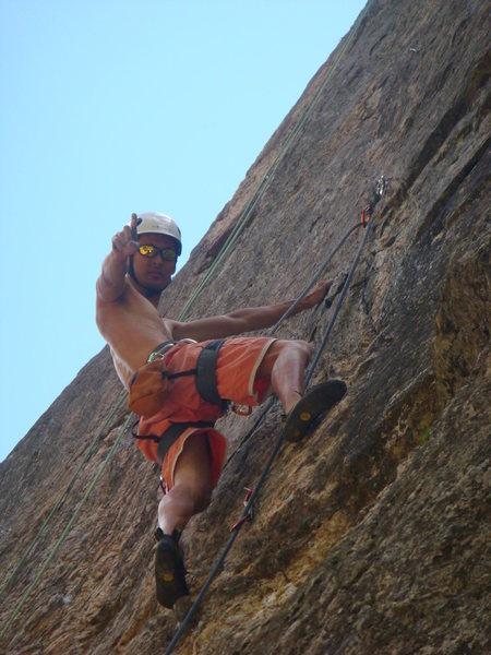 Rock Climbing Photo: Rock on, Dan!