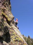 Rock Climbing Photo: Tim cruising the 2nd pitch.