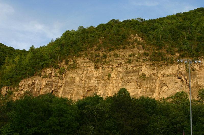 Rock Climbing Photo: rock wall across from Cumberland Fairgrounds