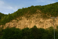 rock wall across from Cumberland Fairgrounds