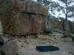 Piano Boulder. A fun traverse; works your feet.